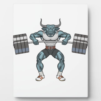 Gewichtsanhebenstier Fotoplatte