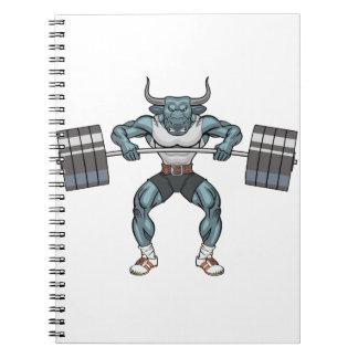 Gewichtsanhebenstier Notizblock