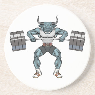 Gewichtsanhebenstier Sandstein Untersetzer