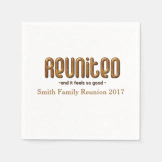 Gewiedervereinigtes Familien-Wiedersehen Serviette