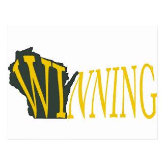 Gewinnendes Wisconsin Postkarte