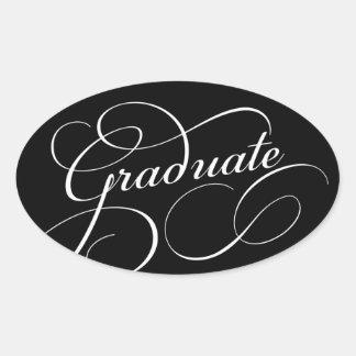 Gewirbelte graduierte   wählen Hintergrund-Farbe Ovaler Aufkleber