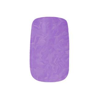 Gewirbelte lila abstrakte minx nagelkunst