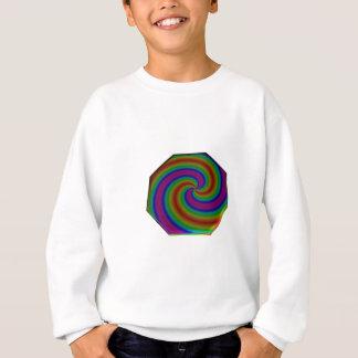 Gewirbelter RegenbogenOctagon Sweatshirt