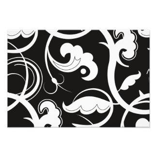 Gewirbeltes Muster, Wirble Art - Schwarz-weiß Photographischer Druck