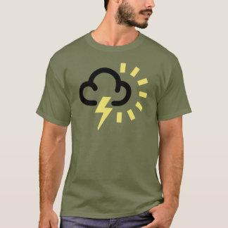 Gewitter: Retro Wettervorhersagesymbol T-Shirt