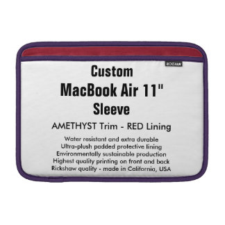 "Gewohnheit 11"" Amethyst u. Rot der MacBook Sleeves"