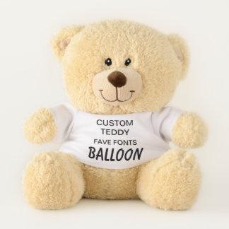"Gewohnheit 11"" Teddybär-Spielzeug-Schablone BALLON Teddybär"