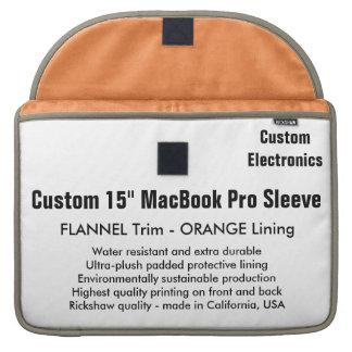 """Gewohnheit 15"""" MacBook Pro-Hülse - Flanell u. Sleeves Für MacBook Pro"""