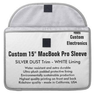 """Gewohnheit 15"""" MacBook Pro-Hülse - Silber u. Weiß MacBook Pro Sleeves"""