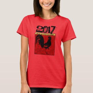 Gewohnheit 2017 Chinesisches Neujahrsfest des T-Shirt