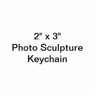 """Gewohnheit 2"""" x 3"""" Foto-Skulptur Keychain Fotoskulptur Schlüsselanhänger"""