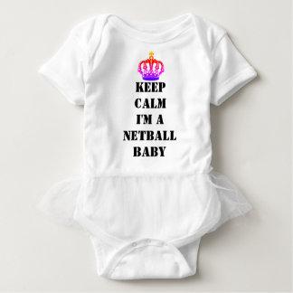 Gewohnheit behalten ruhigen Netball Baby Strampler