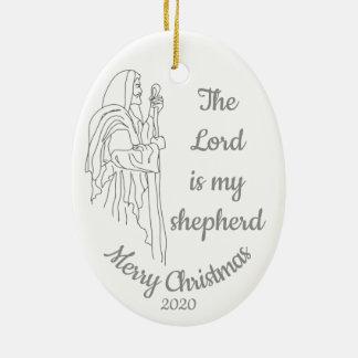 Gewohnheit datiertes Weihnachten der Lord ist mein Keramik Ornament