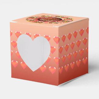 :: GEWOHNHEIT:: Deluxe Hochzeit korallenrotes Geschenkkarton