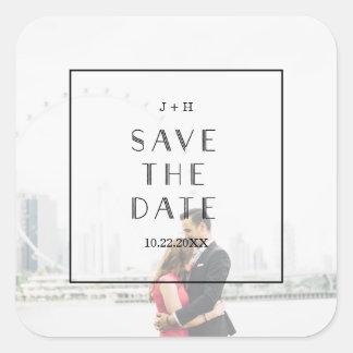 Gewohnheit des Kunst-Deko-| Save the Date, die