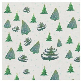 Gewohnheit gekämmte Baumwollgewebe-Weihnachtsbäume Stoff