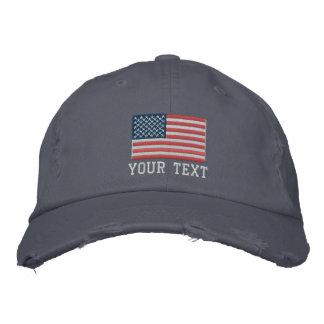 Gewohnheit gestickte Hüte mit Flaggelogo Bestickte Kappen