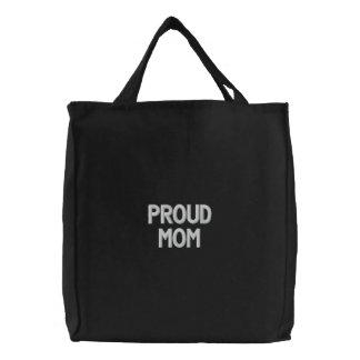 Gewohnheit gestickte Tasche, stolze Mamma, Bestickte Taschen