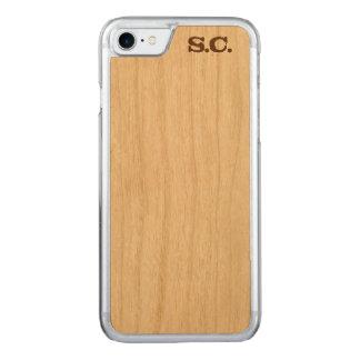 Gewohnheit initialisierter iPhone Holz-Kasten Carved iPhone 8/7 Hülle