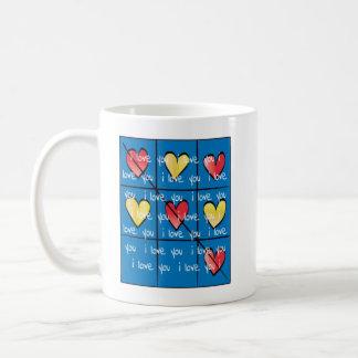 """Gewohnheit, Klassiker, weiße Tasse """"ich Liebe Sie"""