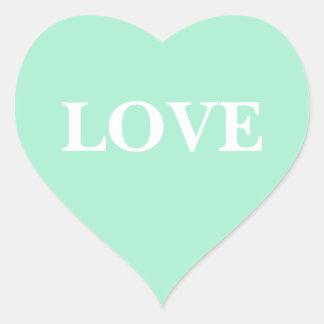 Gewohnheit laden helle Minze ein Herz Sticker