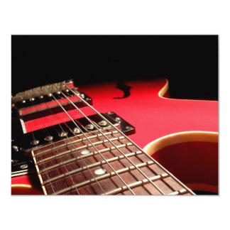 GEWOHNHEIT LÄDT - rote E-Gitarre ein 10,8 X 14 Cm Einladungskarte