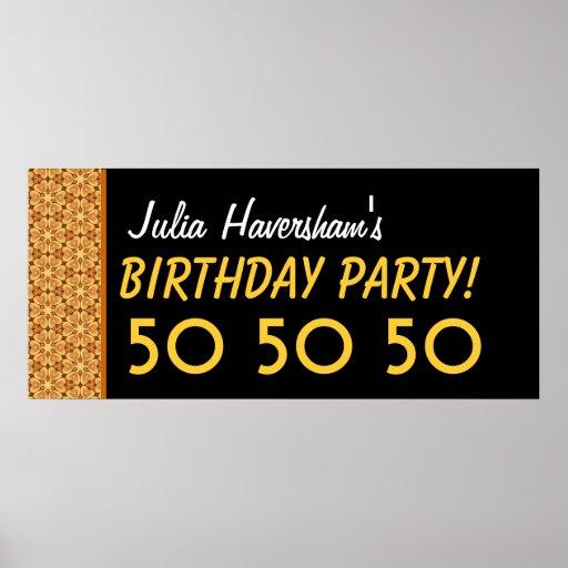 Gewohnheits-50. Geburtstag oder irgendein Jahr-Gol Plakate