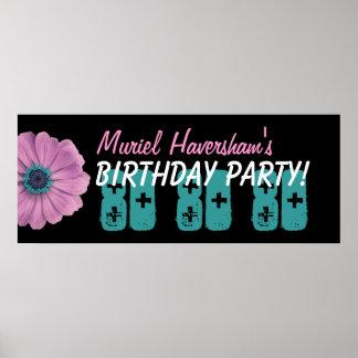 Gewohnheits-80. Geburtstags-Party oder irgendein J Plakat