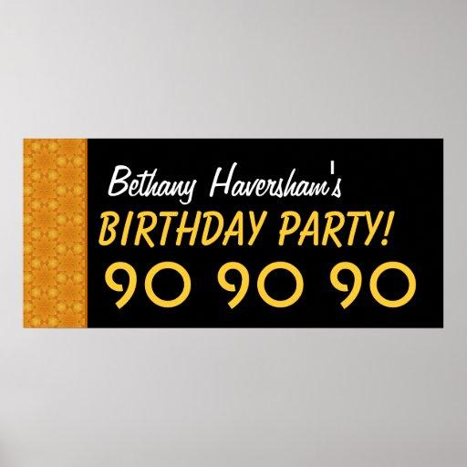 Gewohnheits-90. Geburtstag oder jedes mögliches Ja Poster