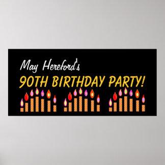 Gewohnheits-90. Geburtstag oder jedes mögliches Posterdrucke