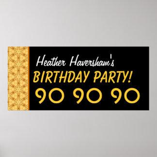 Gewohnheits-90. Geburtstag oder jedes mögliches Poster