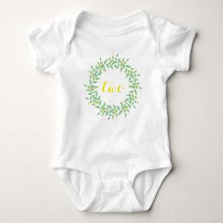Gewohnheits-Baby-Jersey-Bodysuit des Kranz-zwei Baby Strampler