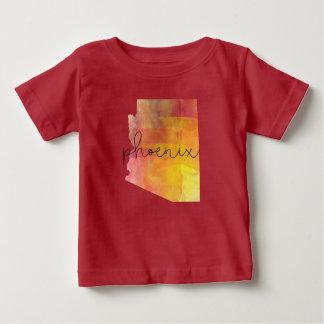 Gewohnheits-Farbe Aquarell-Phoenix Arizona Baby T-shirt