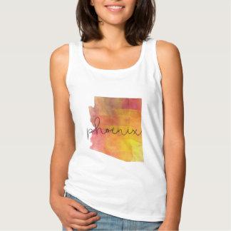 Gewohnheits-Farbe Aquarell-Phoenix Arizona Tank Top