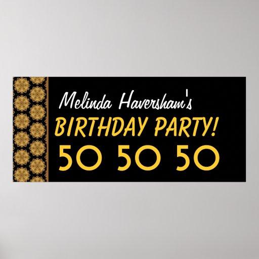 Gewohnheits-ist 50. Geburtstags-Party oder jedes m Plakatdruck