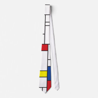 Gewohnheits-Krawatte Mondrian Minimalist De Stijl Bedruckte Krawatte