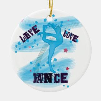 Gewohnheits-LiveLiebe-Tanz-Blau-Tänzer Keramik Ornament