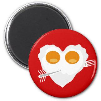 Gewohnheits-Magnet Herz des Valentinstags lustiger Runder Magnet 5,1 Cm