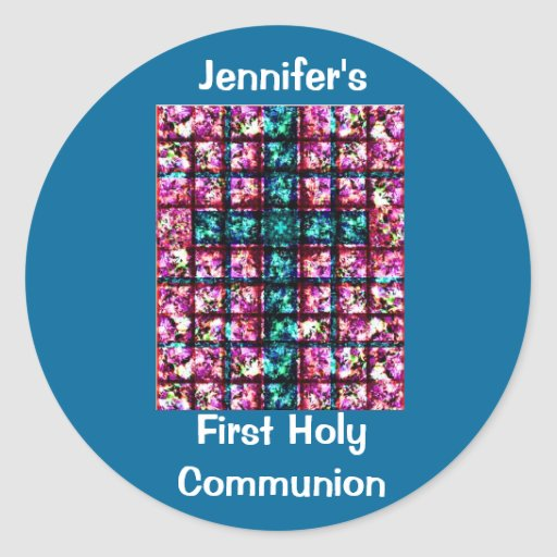 Gewohnheits-zuerst heilige Kommunions-Aufkleber