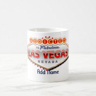 Gewöhnt nach Las Vegas, lustiges Zeichen Nevadas Kaffeetasse