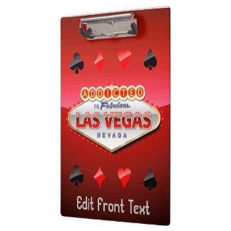 Gewöhnt nach Las Vegas, lustiges Zeichen Nevadas Klemmbrett