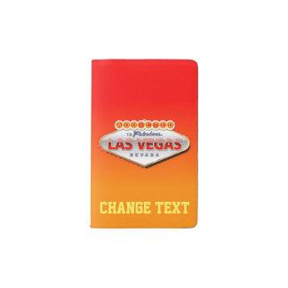 Gewöhnt nach Las Vegas, lustiges Zeichen Nevadas Moleskine Taschennotizbuch
