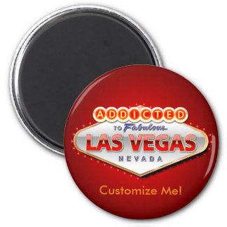 Gewöhnt nach Las Vegas, lustiges Zeichen Nevadas Runder Magnet 5,1 Cm
