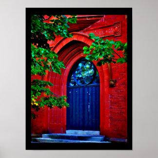Gewölbte Tür Poster