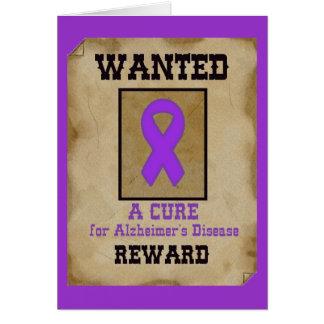 Gewollt: Eine Heilung für Alzheimerkrankheit Grußkarte