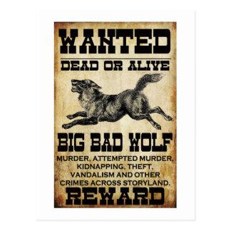 Gewollt: Großer schlechter Wolf Postkarte