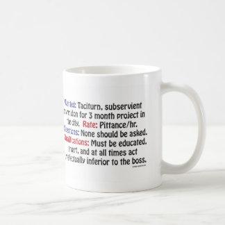 Gewollt: Schweigsamer, unterwürfiger Scherge Kaffeetasse