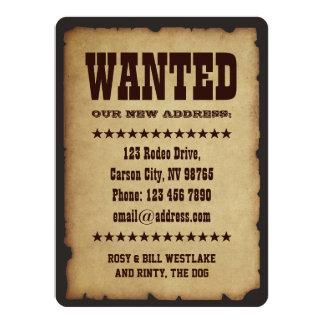 GEWOLLT: Unsere neue Adresse 14 X 19,5 Cm Einladungskarte