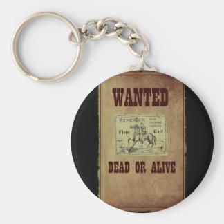Gewollte Tote oder lebendig Schlüsselanhänger